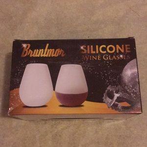 Brand new silicone wine glasses